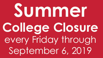 closed on Fridays through September 6