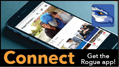 rogue connect is RCC's app to help you stay connected to other students
