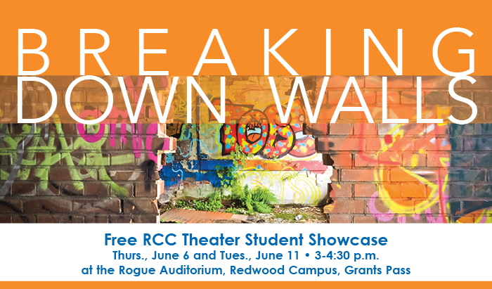 breaking down walls in our society, in relationships and within ourselves presentation June 6 and 11 Redwood campus
