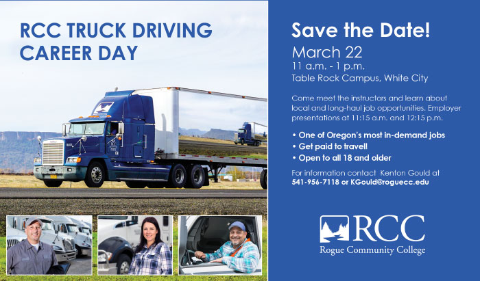 RCC truck driving career day for march 22