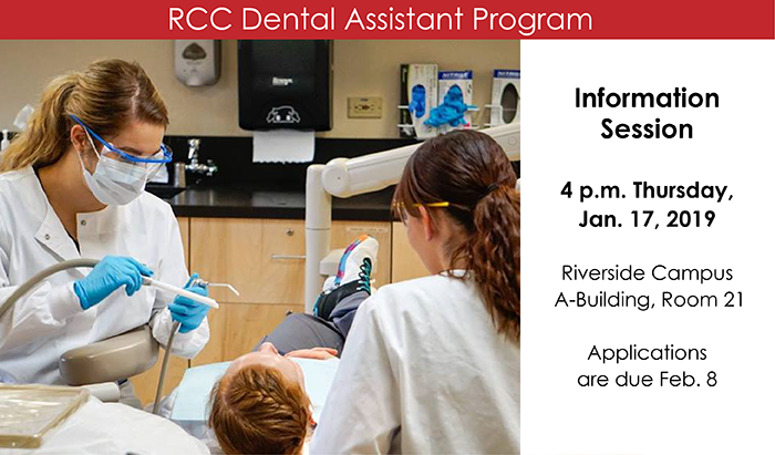 join RCC in a Dental Assistant mandatory info session