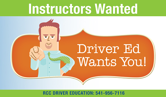 instructors needed for RCC driver ed program