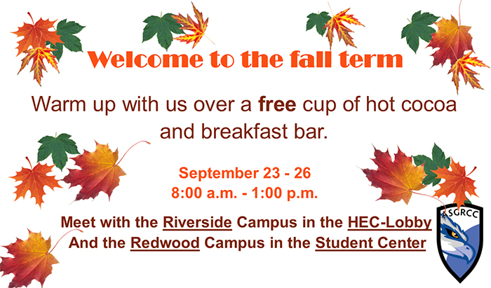 New student welcome day September 23-26