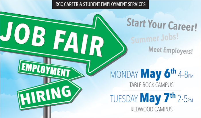 check out local employment options at a Job Fair at RCC
