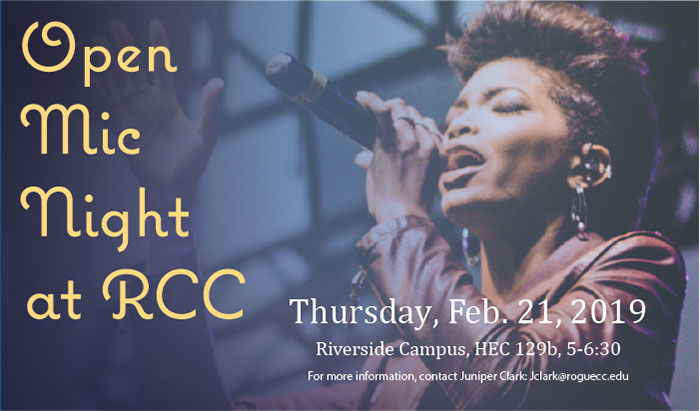 join rcc's student government with an open mic
