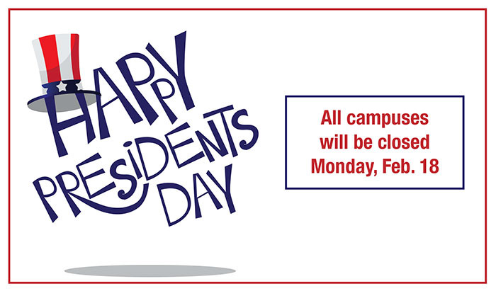 campuses are closed for presidents day