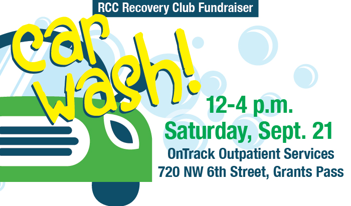 car wash fundraiser for the recover club on Saturday September 21