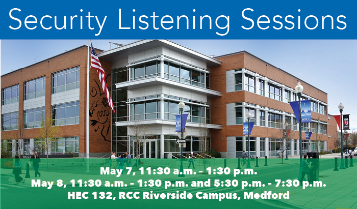 Speak with RCC's head of Risk Management about your security concerns at the college