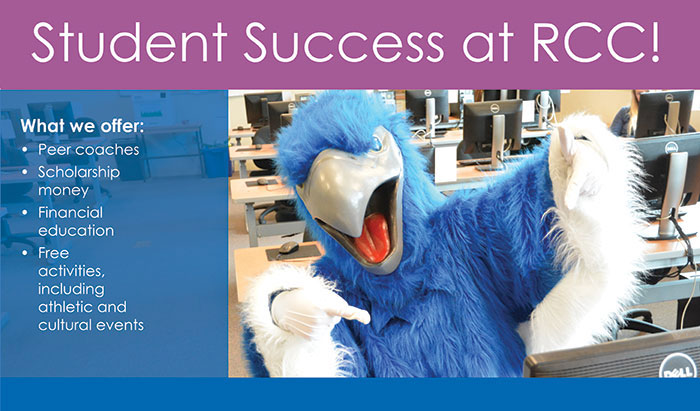 get access to the tools to help make you a great student with RCC's student success program