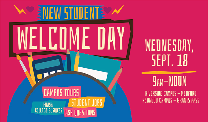 New Student Welcome Day Sept 18