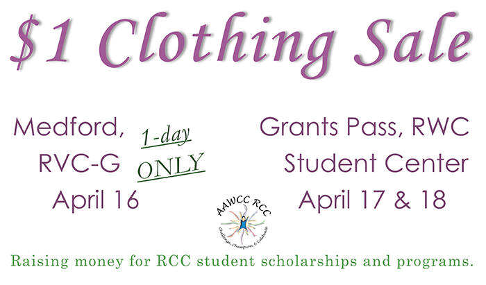 aawcc annual spring clothing sale