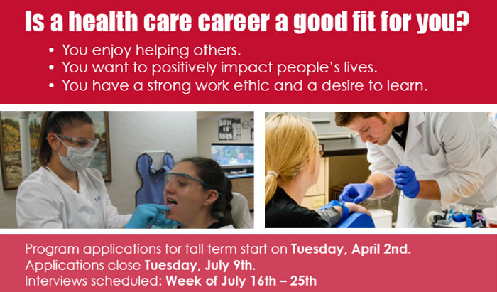 start your health care career at RCC