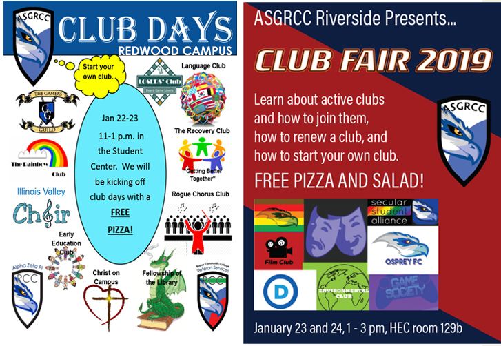 join RCC ASG for an introduction to the clubs at RCC