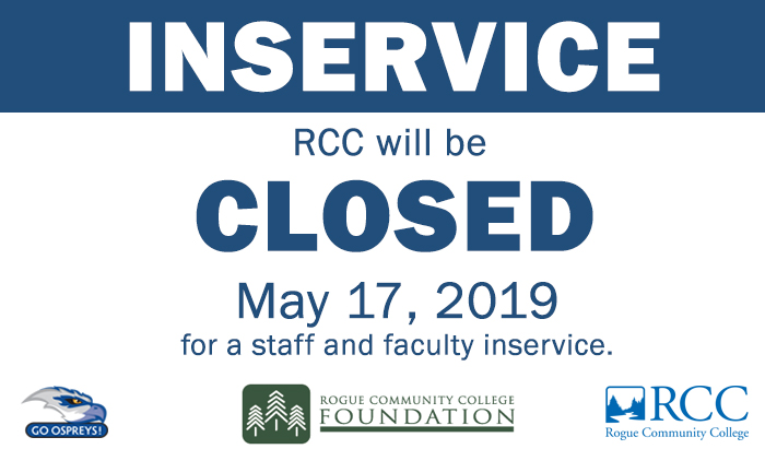 RCC closed on May 17 for spring inservice