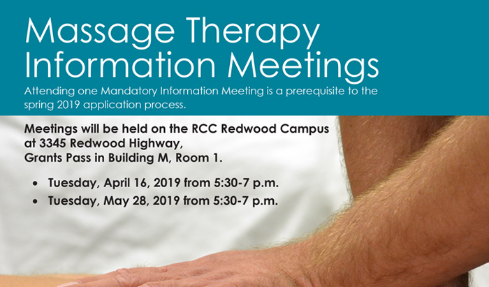 massage therapy mandatory info sessions for fall 2019