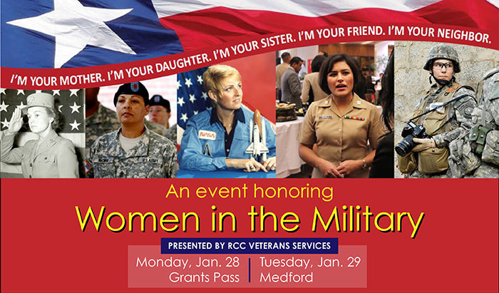 honoring women in the armed forces at RCC