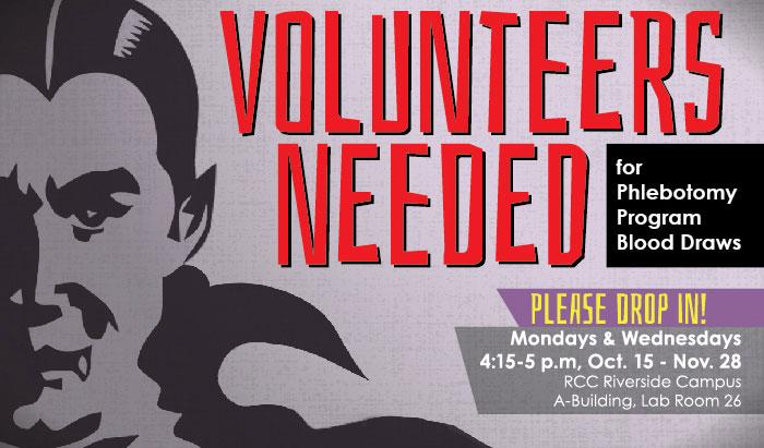 phlebotomy program needs volunteers