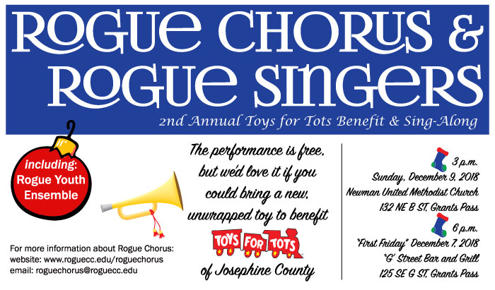 joint the rogue choir for their toys for tots christmas benefit
