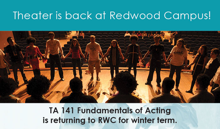 theater classes are returning to Redwood campus