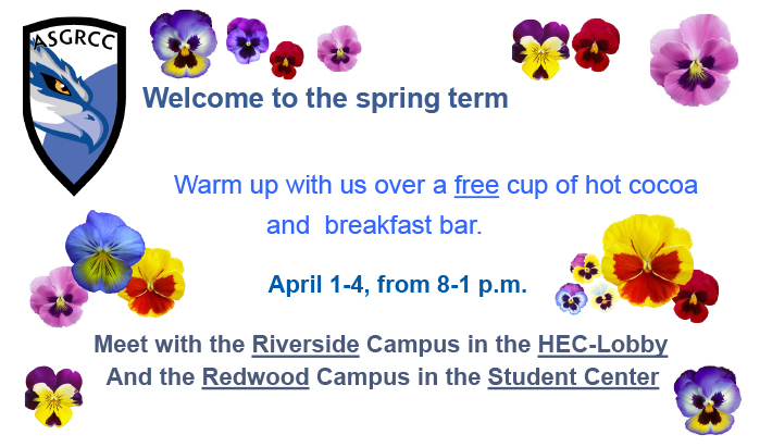 asg presents week of welcome on riverside and redwood campus