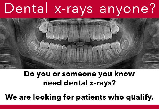 RCC free dental xrays by dental students at RCC