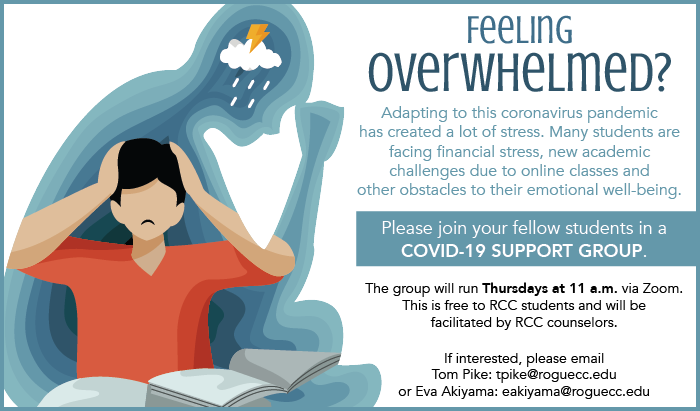feeling overwhelmed from these covid times join the support group