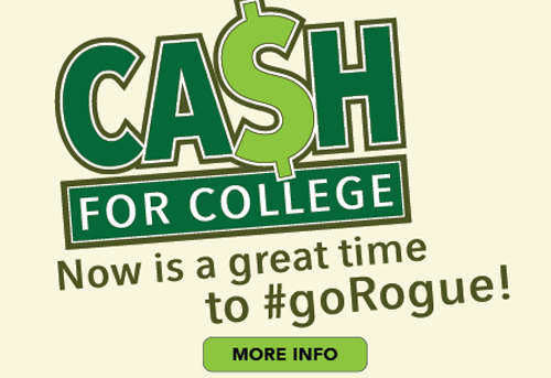 Cash for College click to see if you qualify