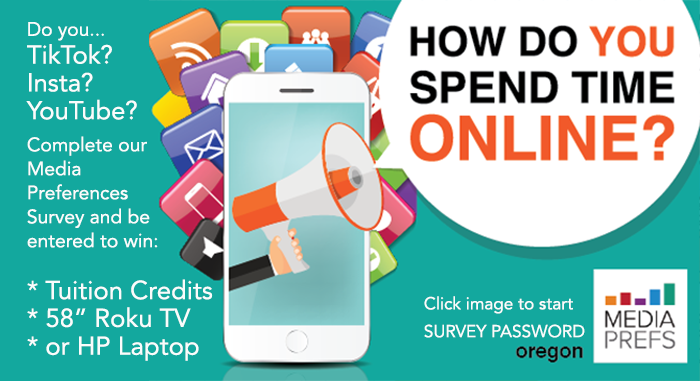 how do you spend time online participate in our survey and be entered to win
