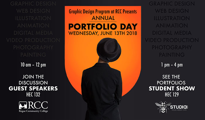 support our graphic design students at their annual portfolio show